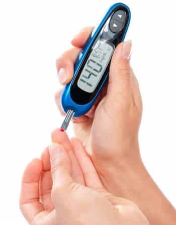 Picture of testing blood sugar